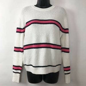 BP Sweater Striped Long Sleeves Crew Neck Sz XS
